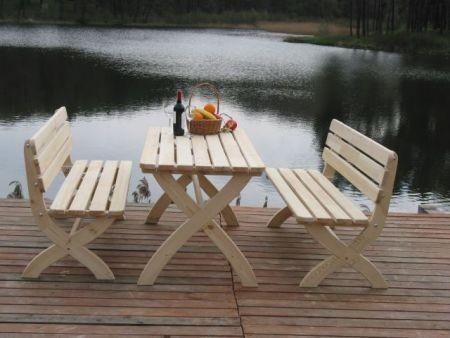 Zahradní dřevěná lavice STRONG