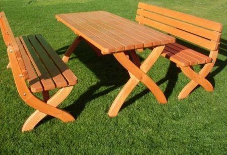Zahradní dřevěná lavice STRONG masiv + ZDARMA DOPRAVA