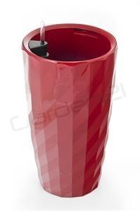 Samozavlažovací květináč G21 Diamant červený 33cm