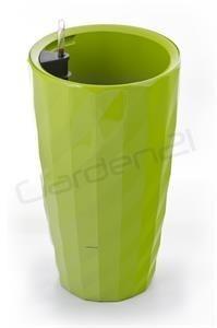 Samozavlažovací květináč G21 Diamant zelený 33cm