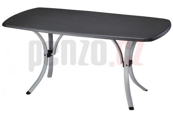 Stůl NEWCASTLE WERZALIT - černý + stříbrná + ZDARMA DOPRAVA