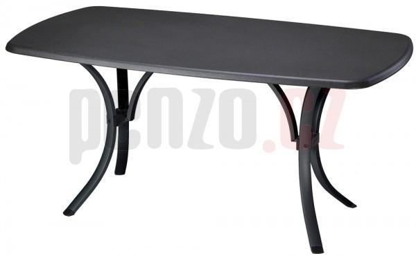 Stůl NEWCASTLE WERZALIT - antracit + černá + ZDARMA DOPRAVA