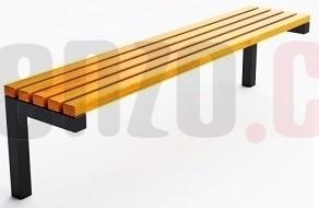 Zahradní lavička CL1016 kovová 23