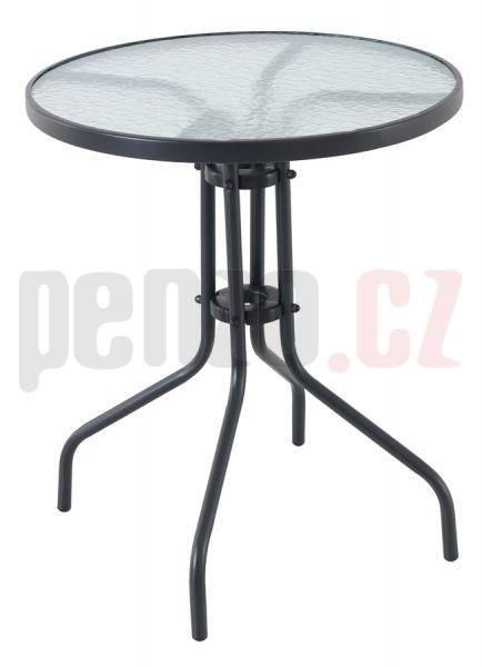 Pikolo Round - kovový stůl se skleněnou deskou