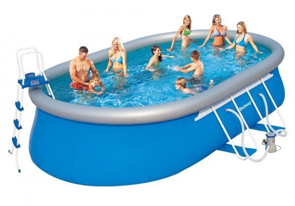 Bazén rodinný oválný 610 x 366 x 122 cm akční sada + ZDARMA DOPRAVA