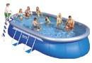 Bazén oválný Bestway 610 x 366 x 122 (bazén + filtrace + schůdky + plachty + vysavač) + ZDARMA DOPRAVA