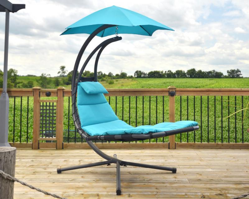 Závěsné houpací lehátko Vivere Original Dream Chair,tyrkysová + ZDARMA DOPRAVA