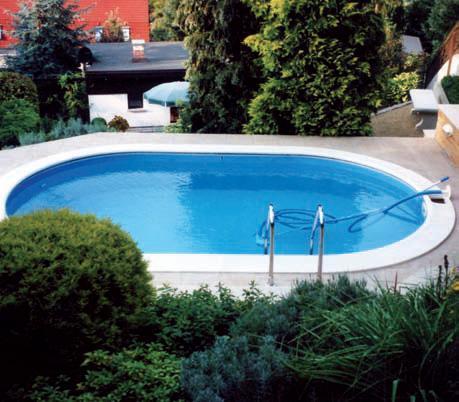 Oválný bazén zapuštěný