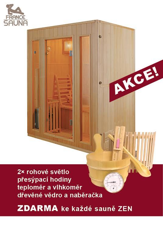 Finská sauna FRANCE SAUNA ZEN 3 + ZDARMA DOPRAVA