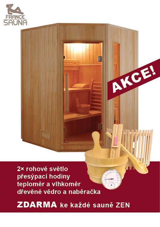 Finská sauna FRANCE SAUNA ZEN 3/4 + ZDARMA DOPRAVA