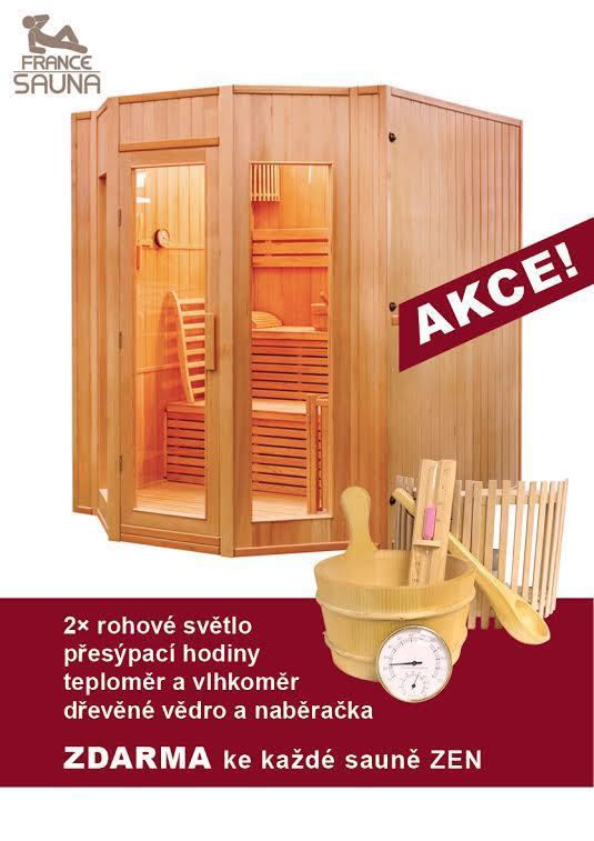 Finská sauna FRANCE SAUNA ZEN 4 + ZDARMA DOPRAVA